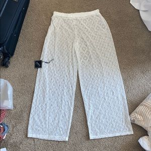 NWT Large Beach coverup lace wide leg pant